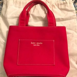 Kate Spade red bucket style bag